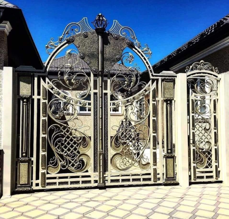 cửa cổng sắt mỹ thuật cổ điển phong cách châu âu