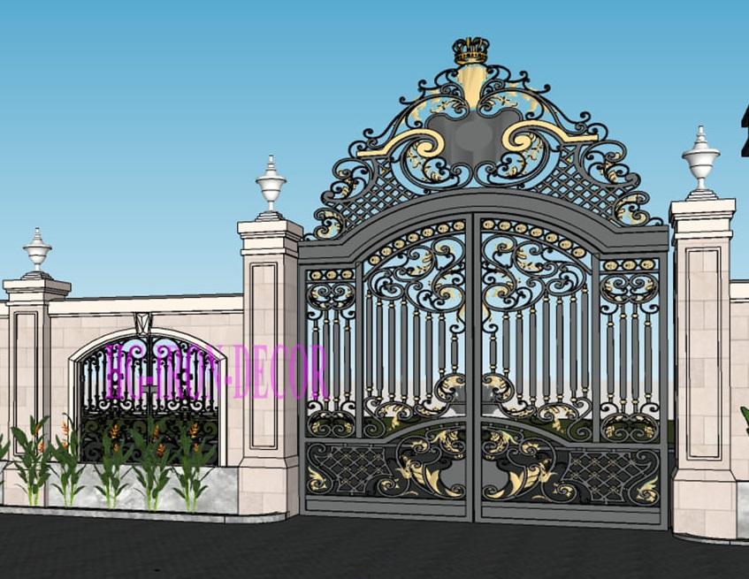 mẫu cửa cổng đẹp mẫu thiết kế làm cửa cổng sắt mỹ thuật  (1)