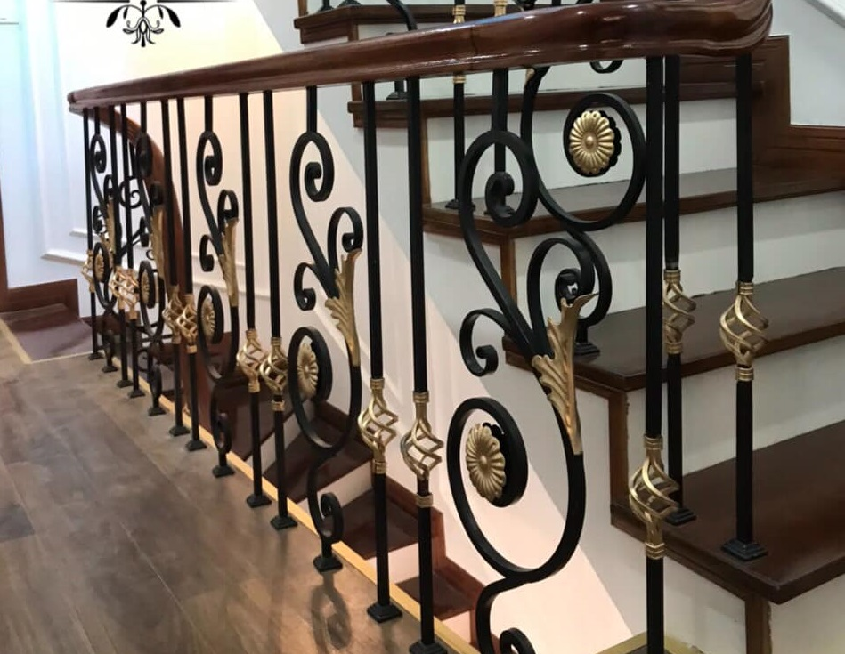 mẫu lan can cầu thang sắt nghệ thuật mỹ thuật mỹ nghệ