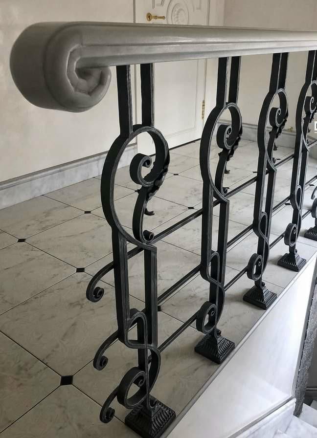 mẫu lan can cầu thang sắt mỹ thuật nghệ thuật  đẹp sài gòn